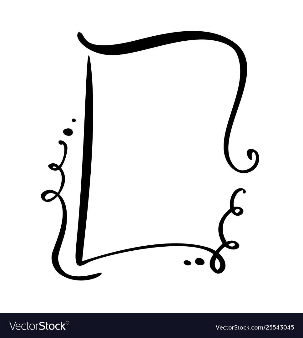 Calligraphy cartoon quote speech bubble icon hand