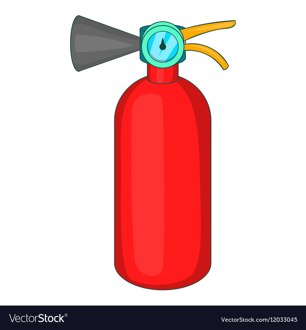 fire extinguisher icon cartoon style royalty free vector rh vectorstock com cartoon fire extinguisher clipart funny fire extinguisher cartoon