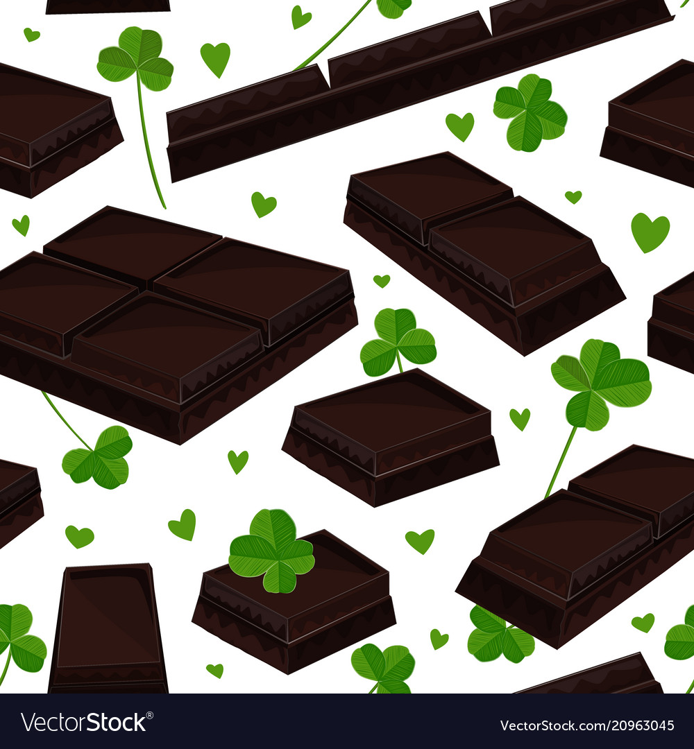 Seamless st patricks day background with clover