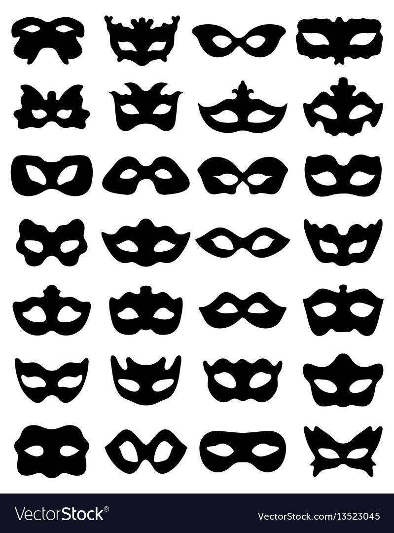 Silhouette of festive masks