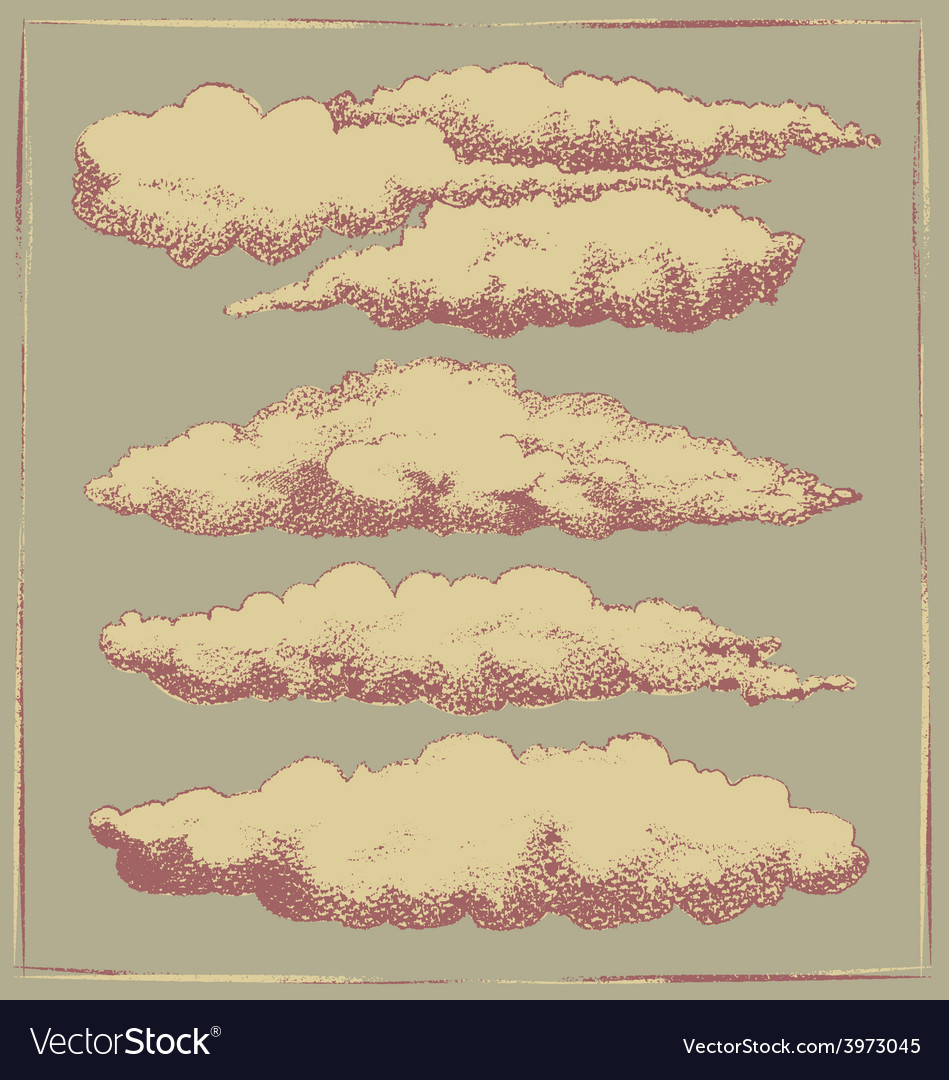 Vintage cloud background design