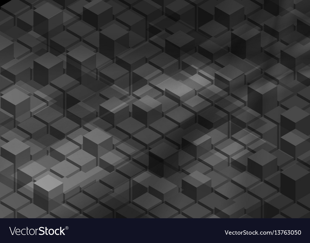 3d abstract tech geometric shapes background