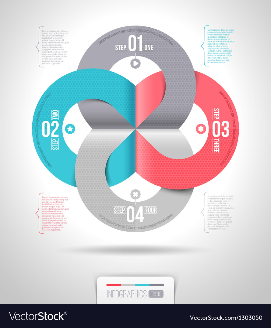Abstract infographics template design