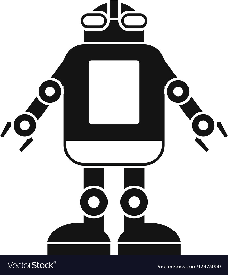 Automation machine robot icon simple style