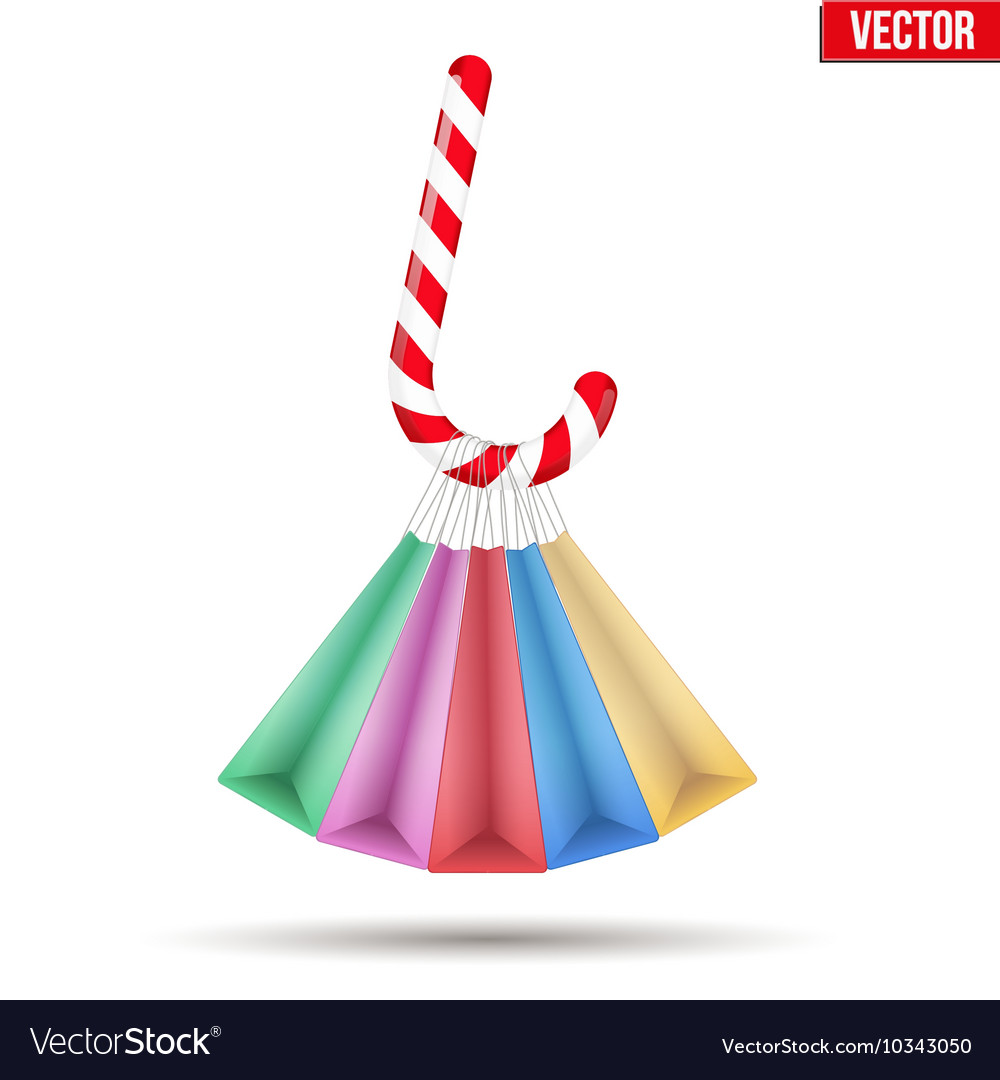 Background colorful Sweet Christmas shopping