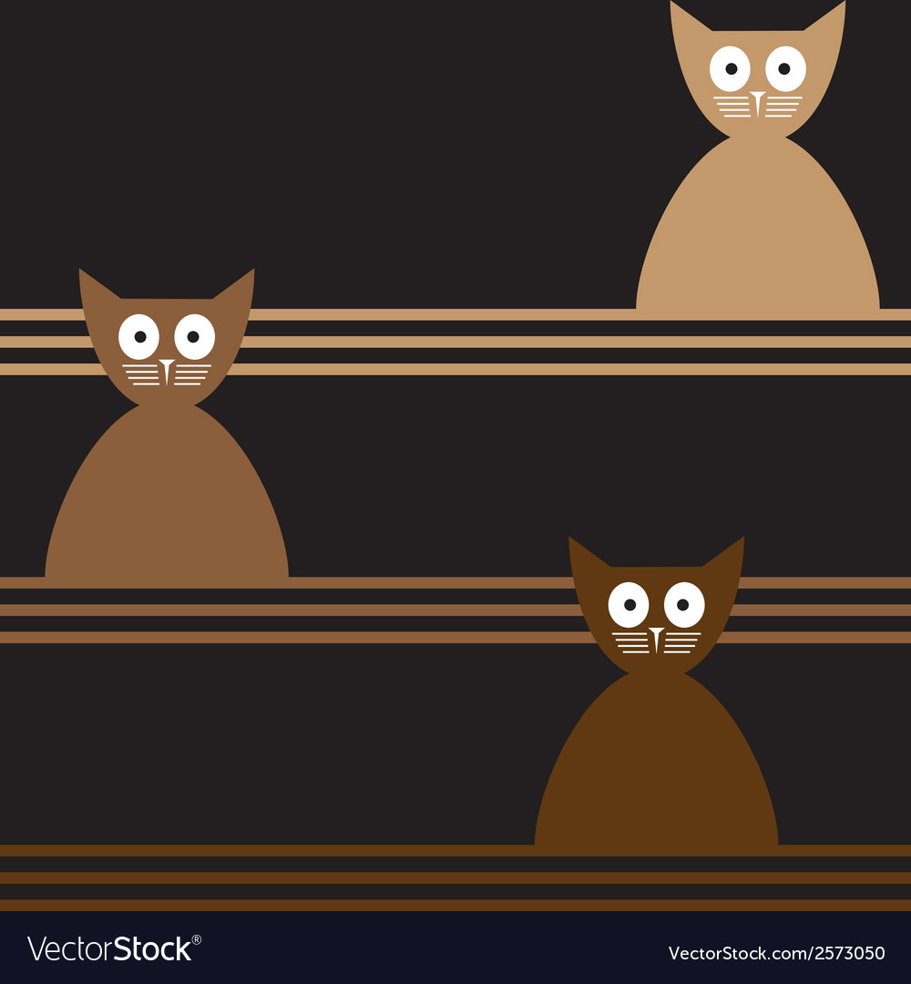 Cats Abstract seamless background Template for
