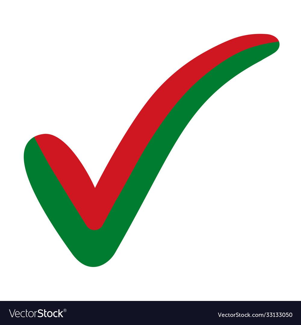 Check mark belarus flag symbol elections voting