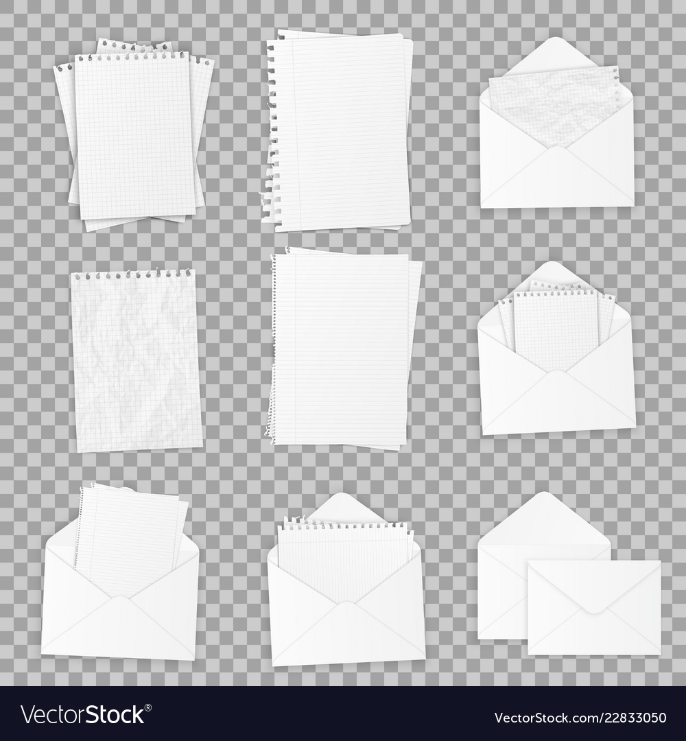 Collection of various realistic white papers