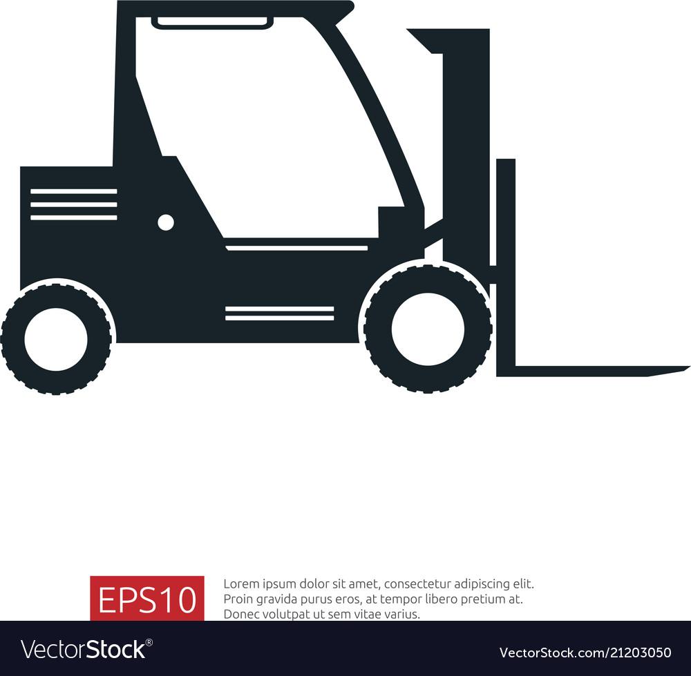 Forklift truck icon warehouse fork loader