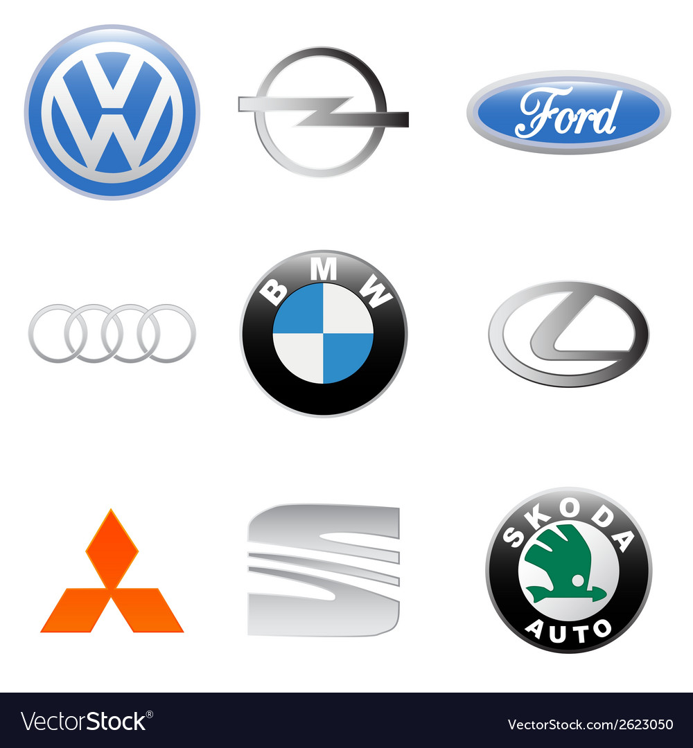 New auto logo set vector image