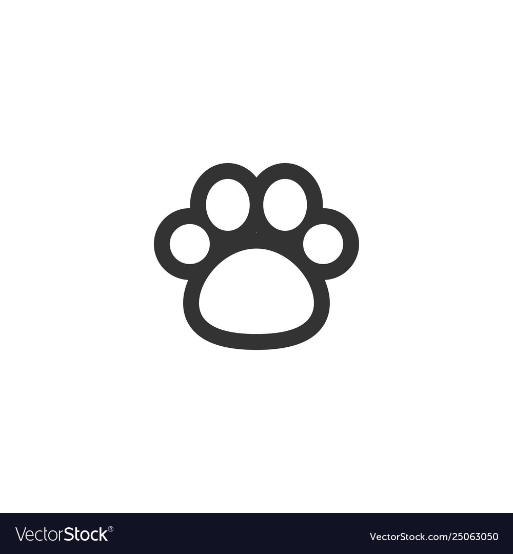 Paw clip art design isolated