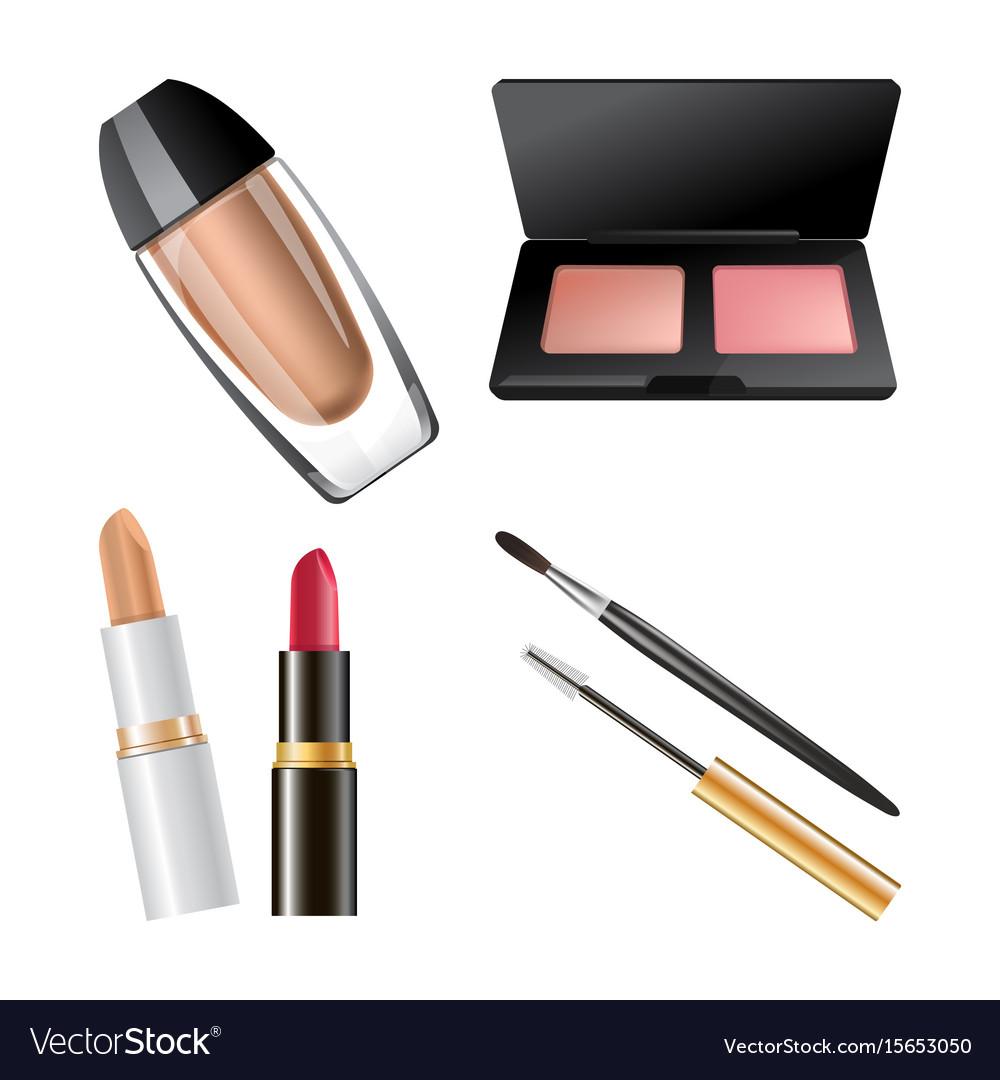 Set of different cosmetics