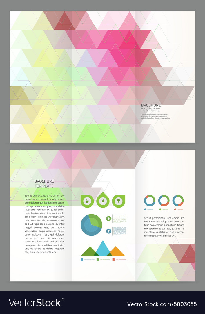 Abstract triangles Brochure Template
