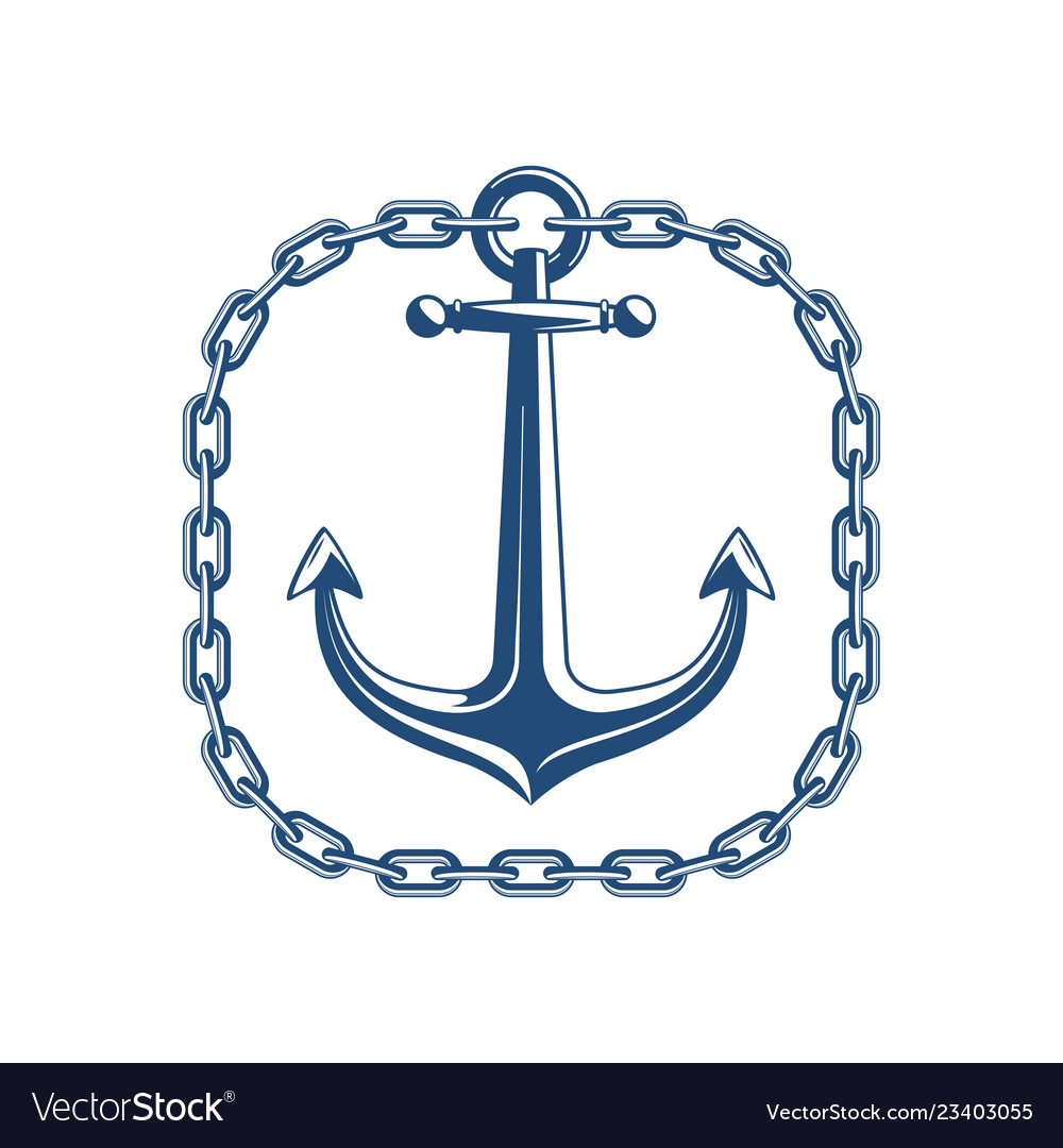 Anchor with square chain