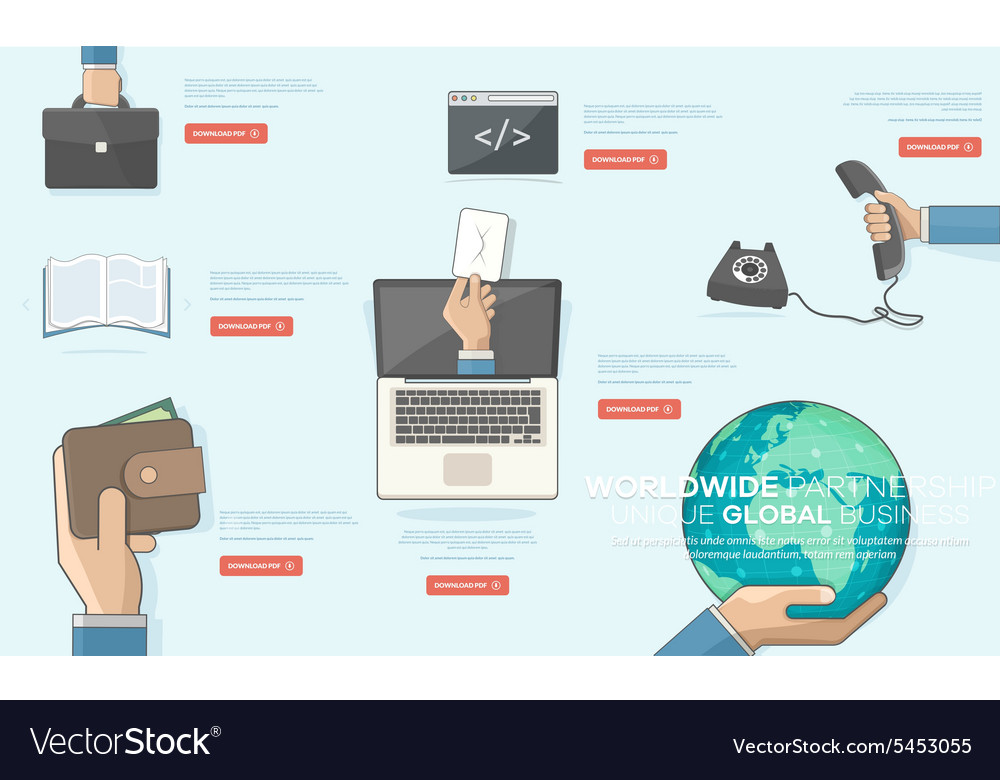 BUSINESS TECHNOLOGY and FINANCIAL ICONS
