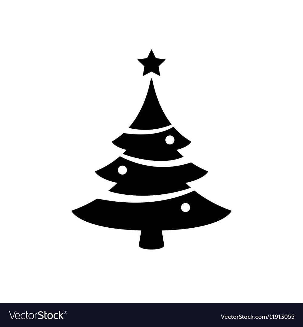 christmas tree icon royalty free vector image vectorstock vectorstock