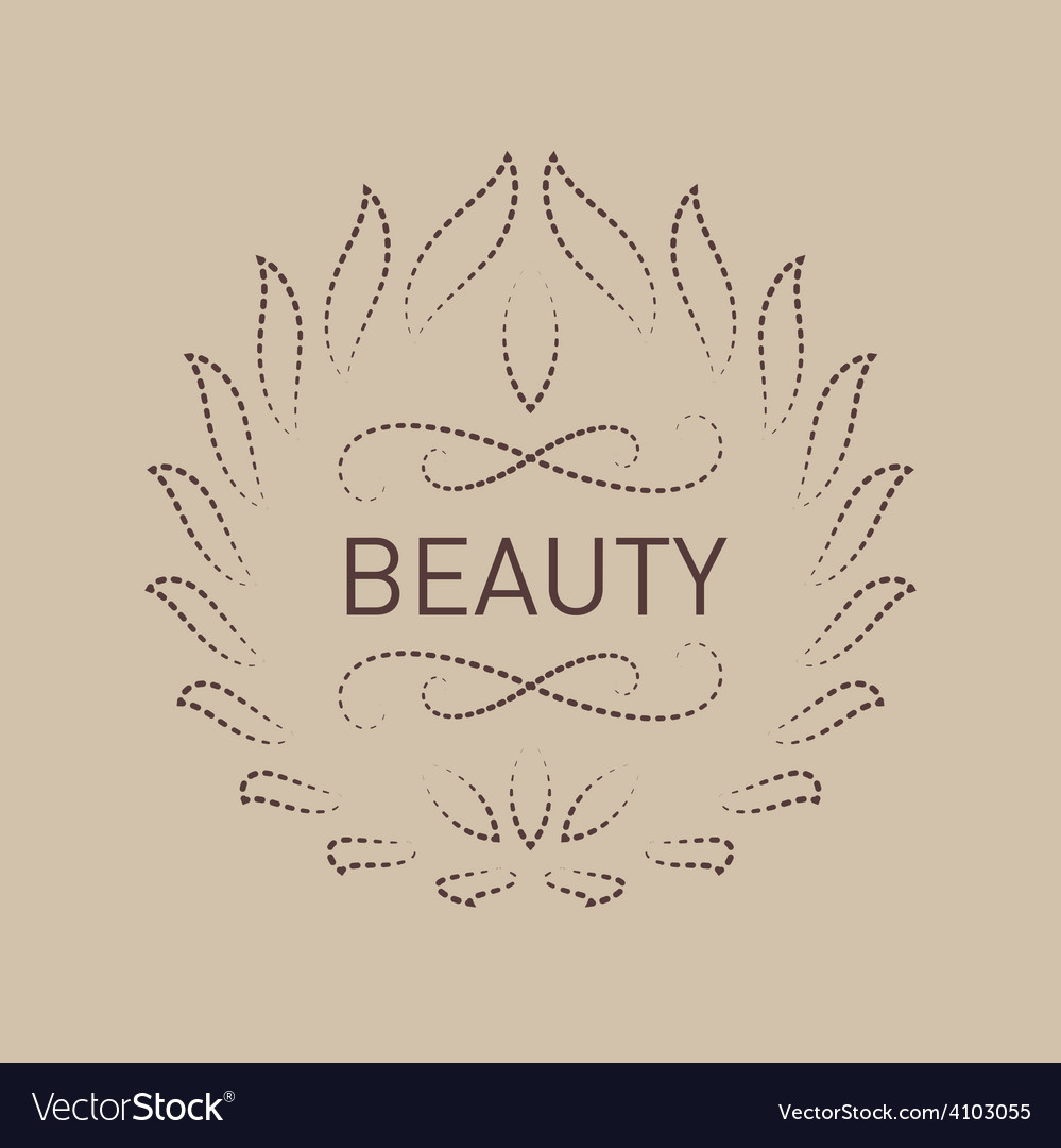 Floral logo template for Beauty salon Spa center
