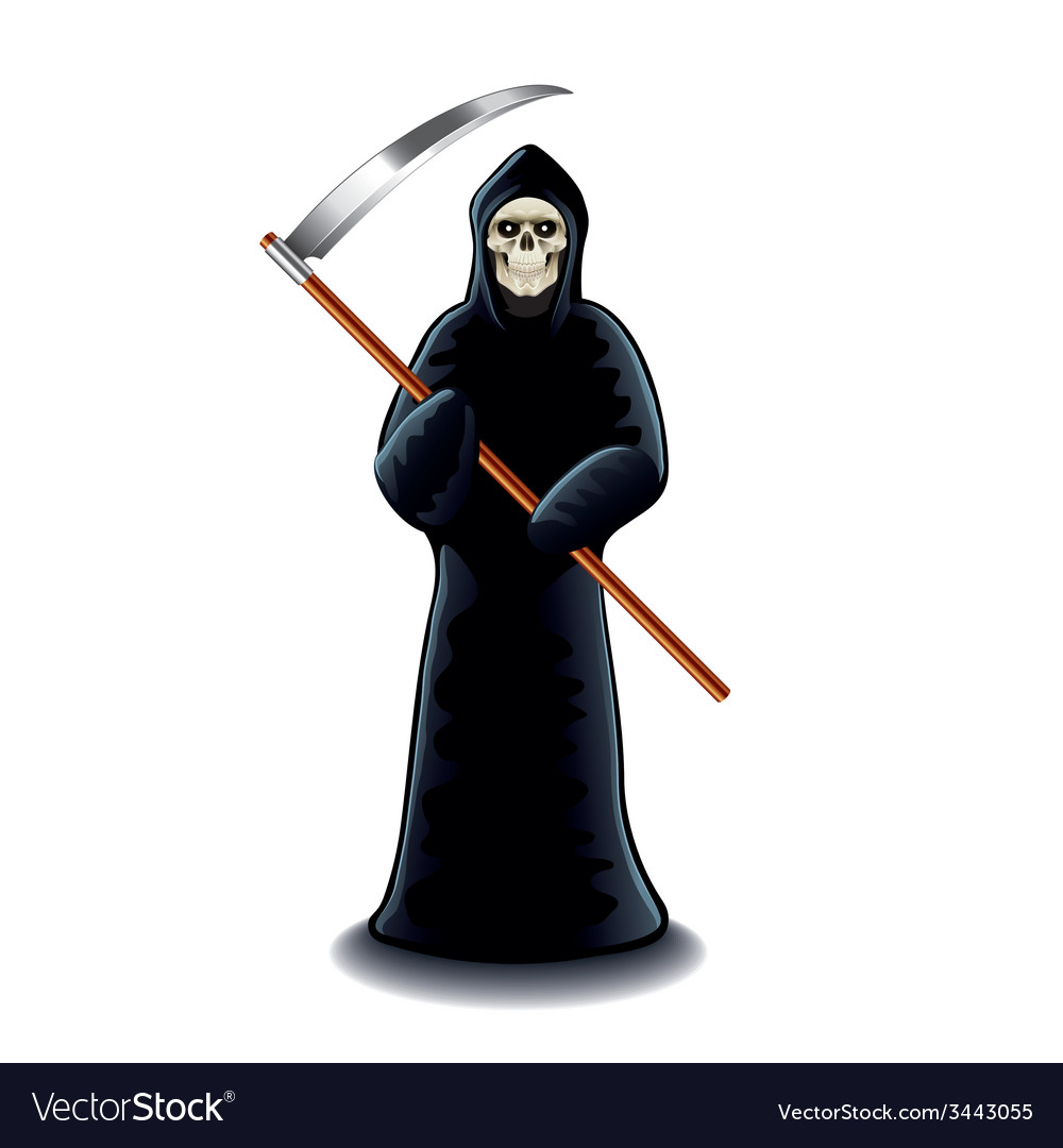 Grim reaper isolated