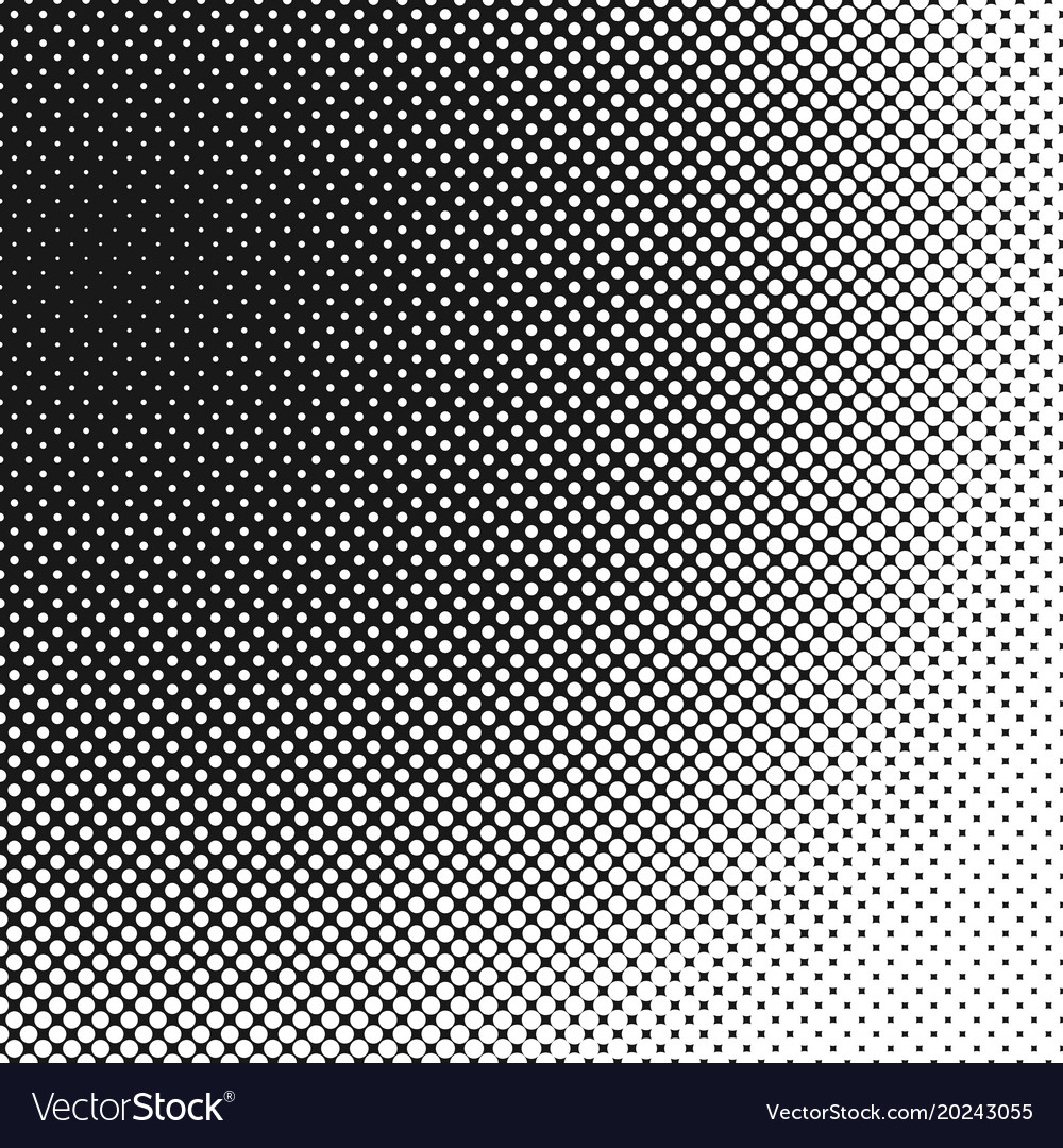Halftone dotted pattern background template vector image