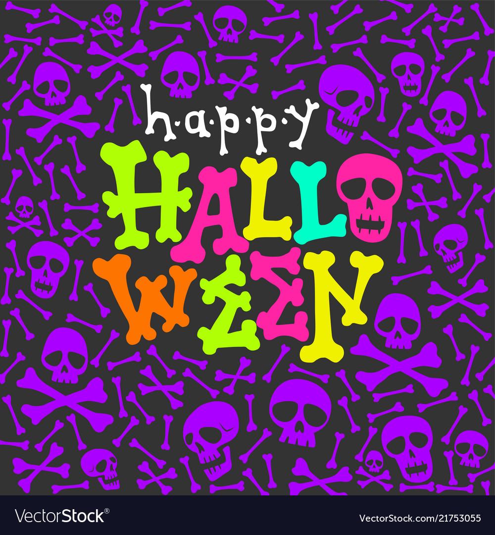 Halloween party glow in dark card