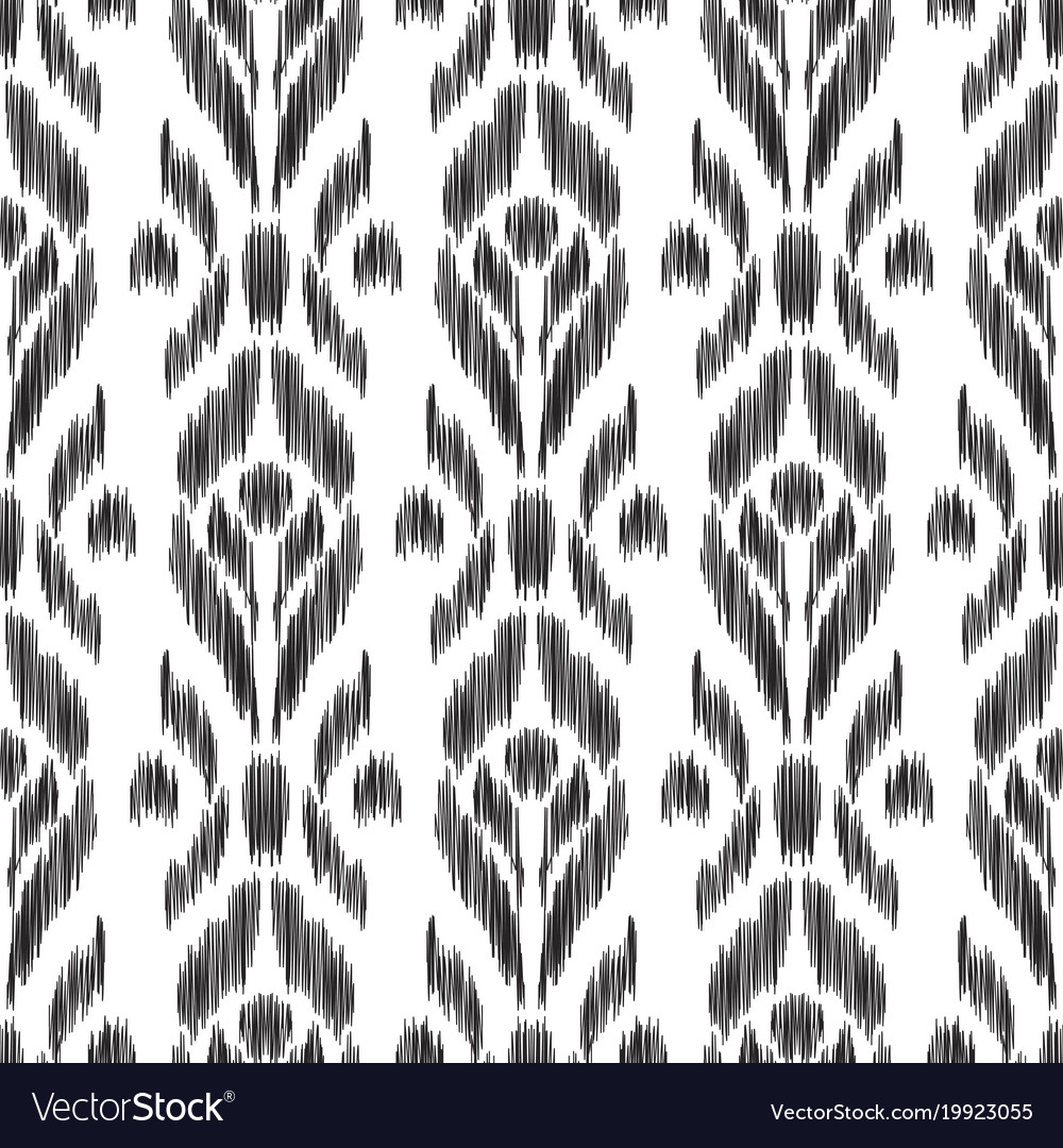 Ikat Seamless Pattern Wallpaper Background Vector Image