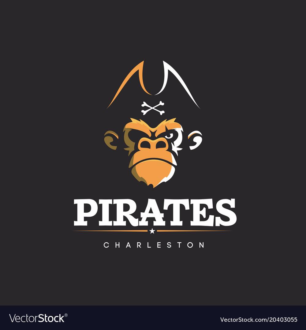 Modern professional logo emblem pirates