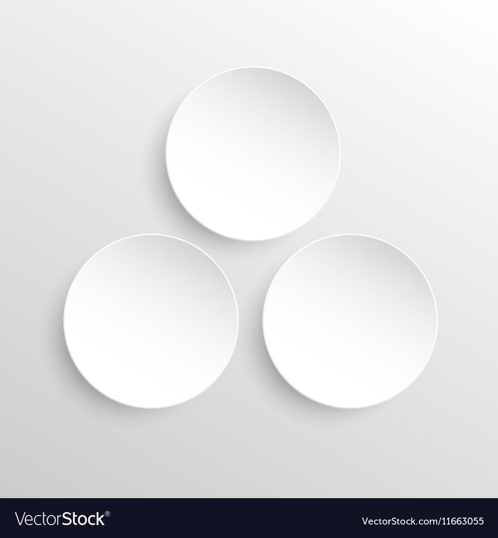 Paper Banner Design Mockup Circle