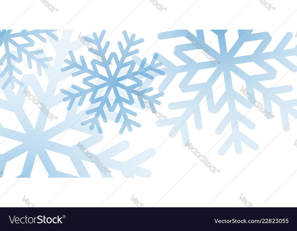 Snowflakes background snow design