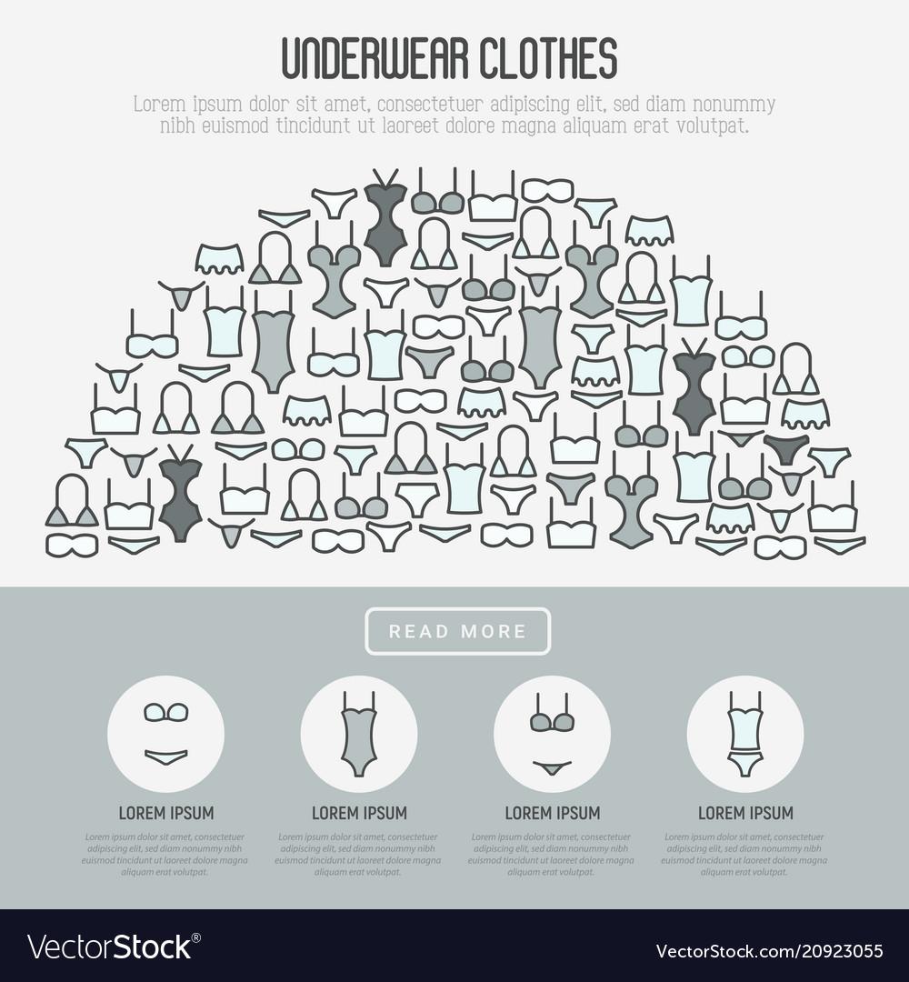 Underwear clothes concept in half circle