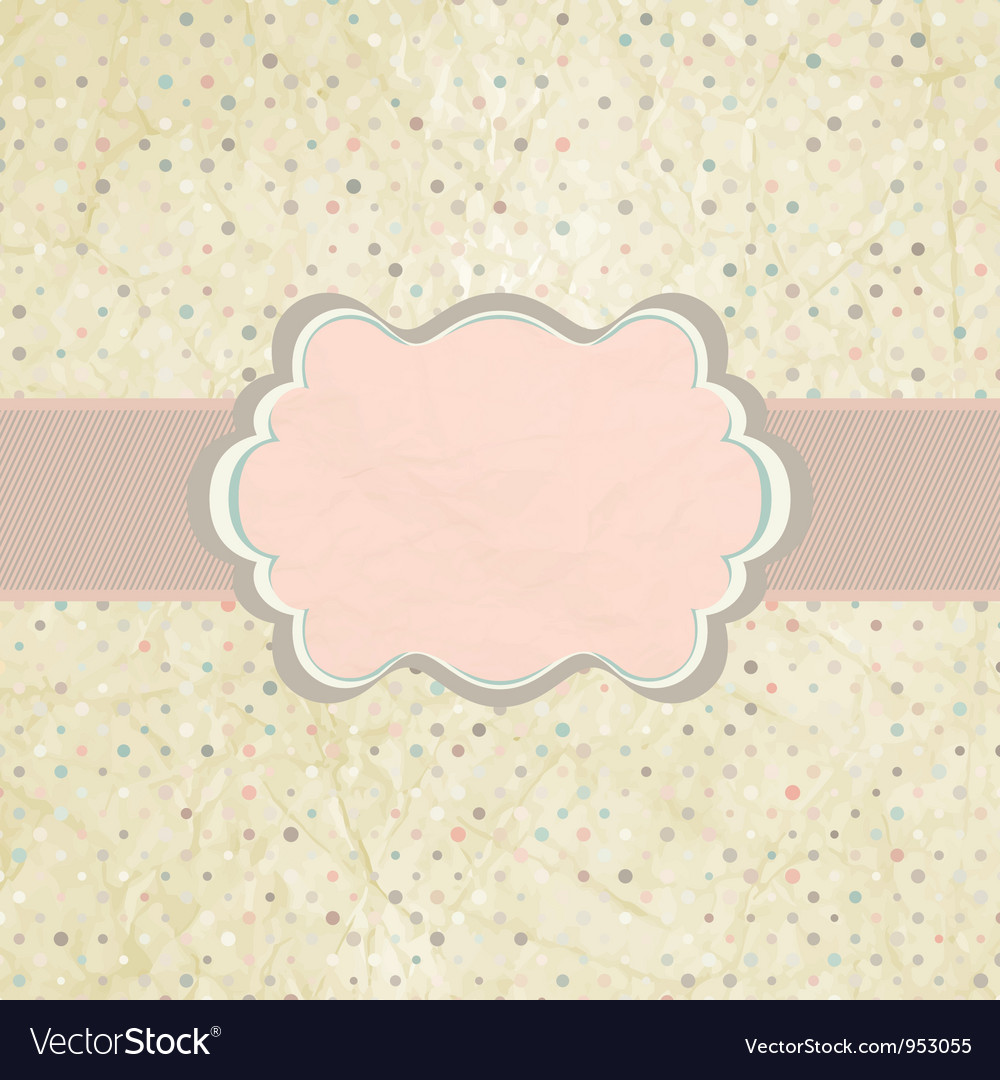 vintage dot invitation template royalty free vector image