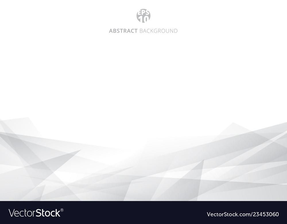 Abstract white and gray polygonal header