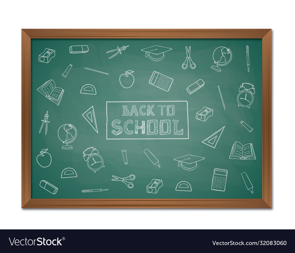 Back to school background with chalkboard