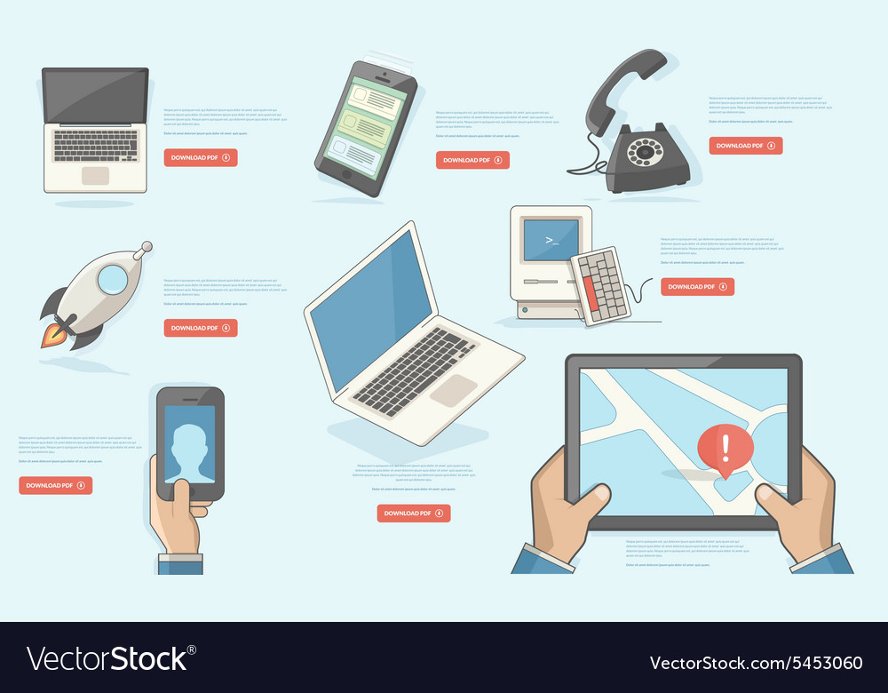 BUSINESS TECHNOLOGY and FINANCIAL ICONS vector image