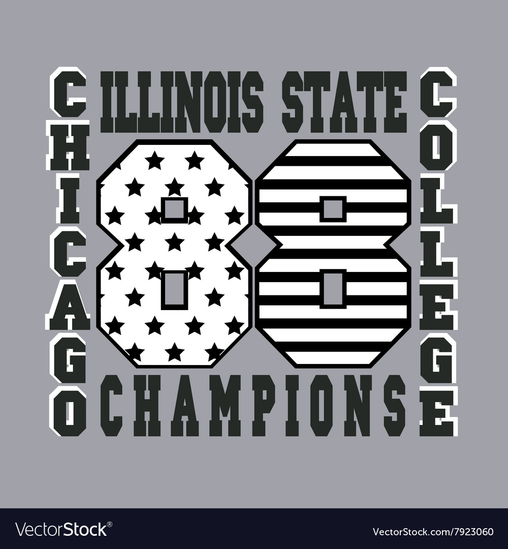 Chicago typography graphics t-shirt vector image