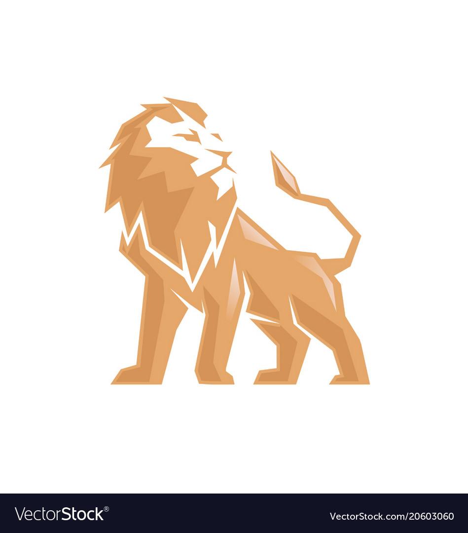 Creative abstract lion logo