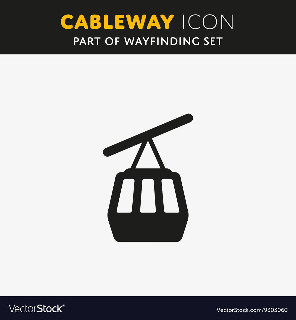 Funicular cableway icon