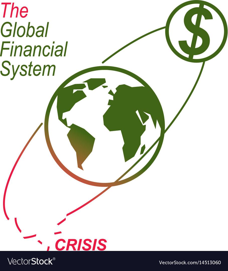 Global financial crisis conceptual logo unique