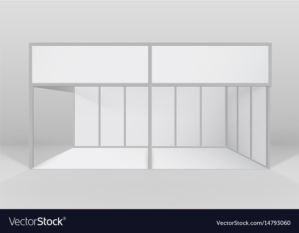 Indoor trade exhibition booth standard stand vector image