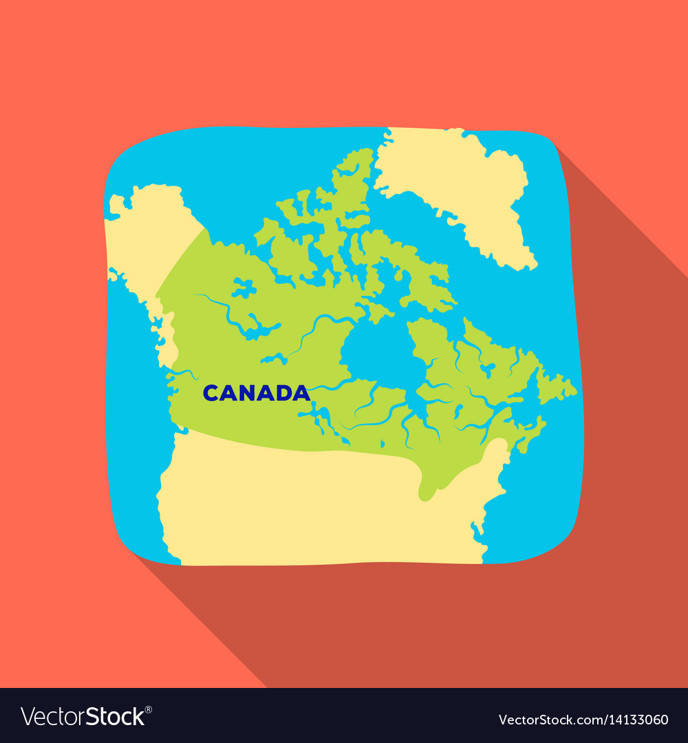 Single Canada Map Map canada canada single icon in flat style Vector Image