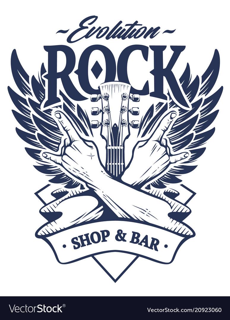 Rock emblem art