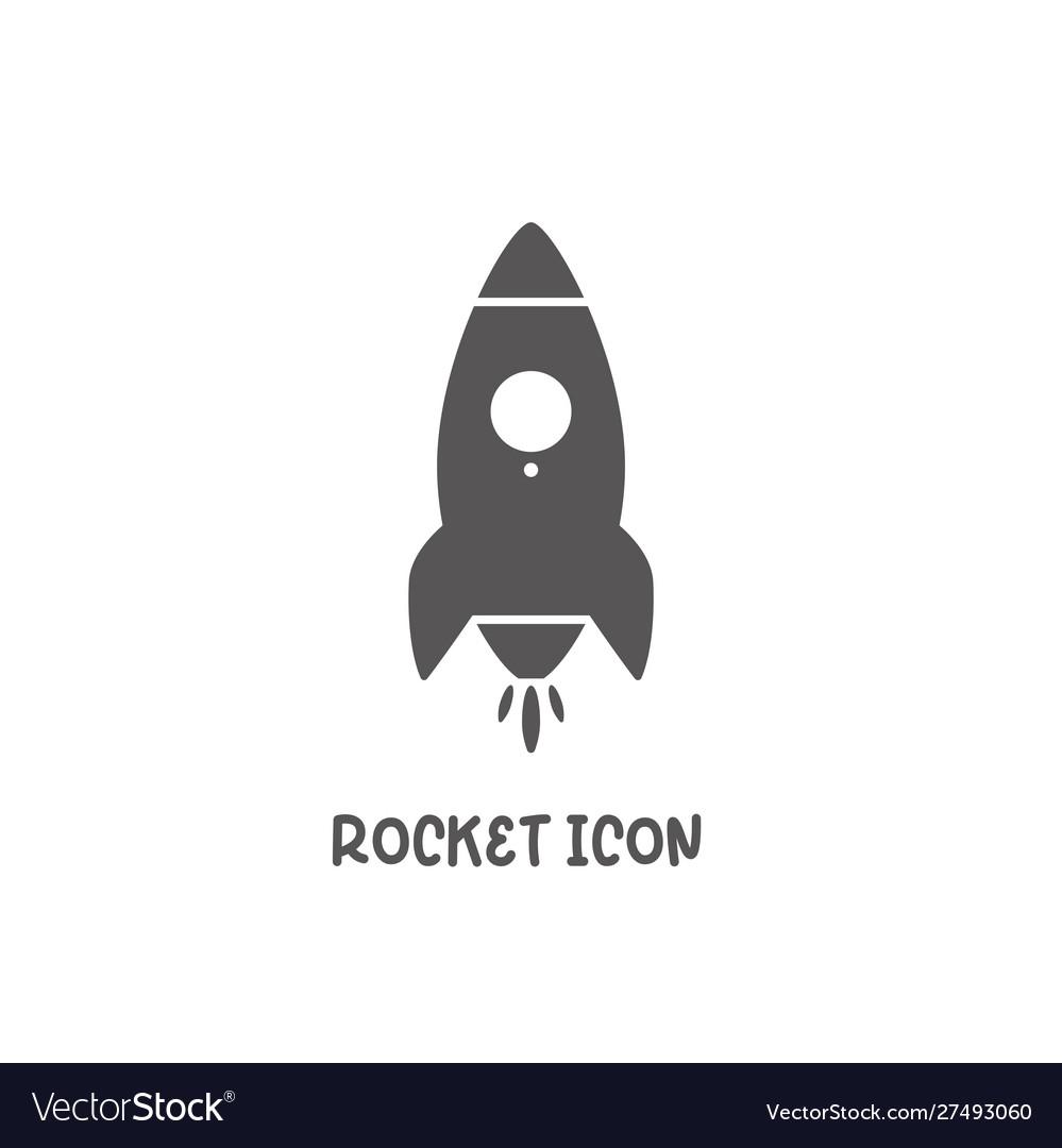 Rocket icon simple flat style