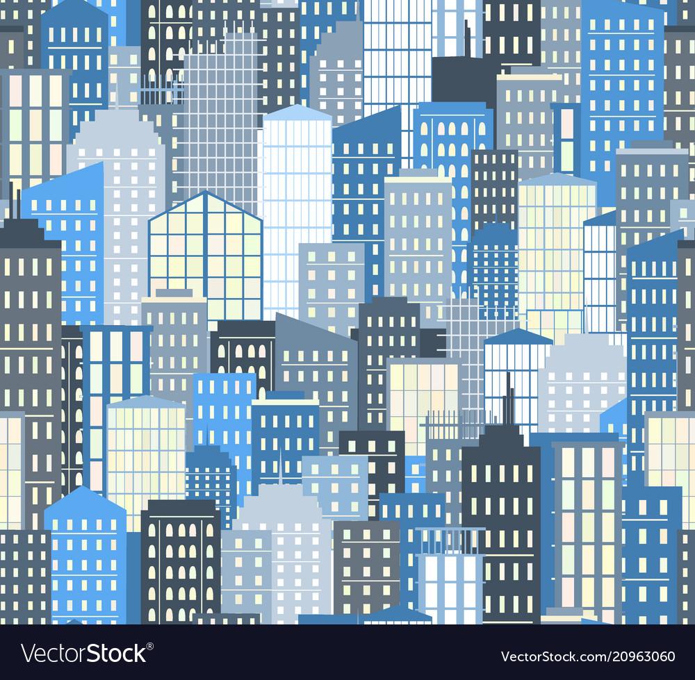 Seamless urban landscape city background