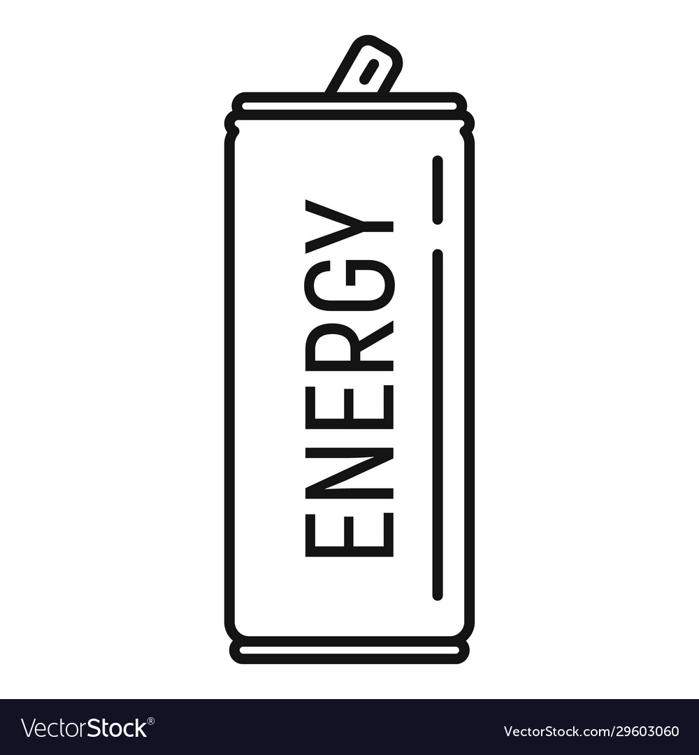Soda energy drink icon outline style