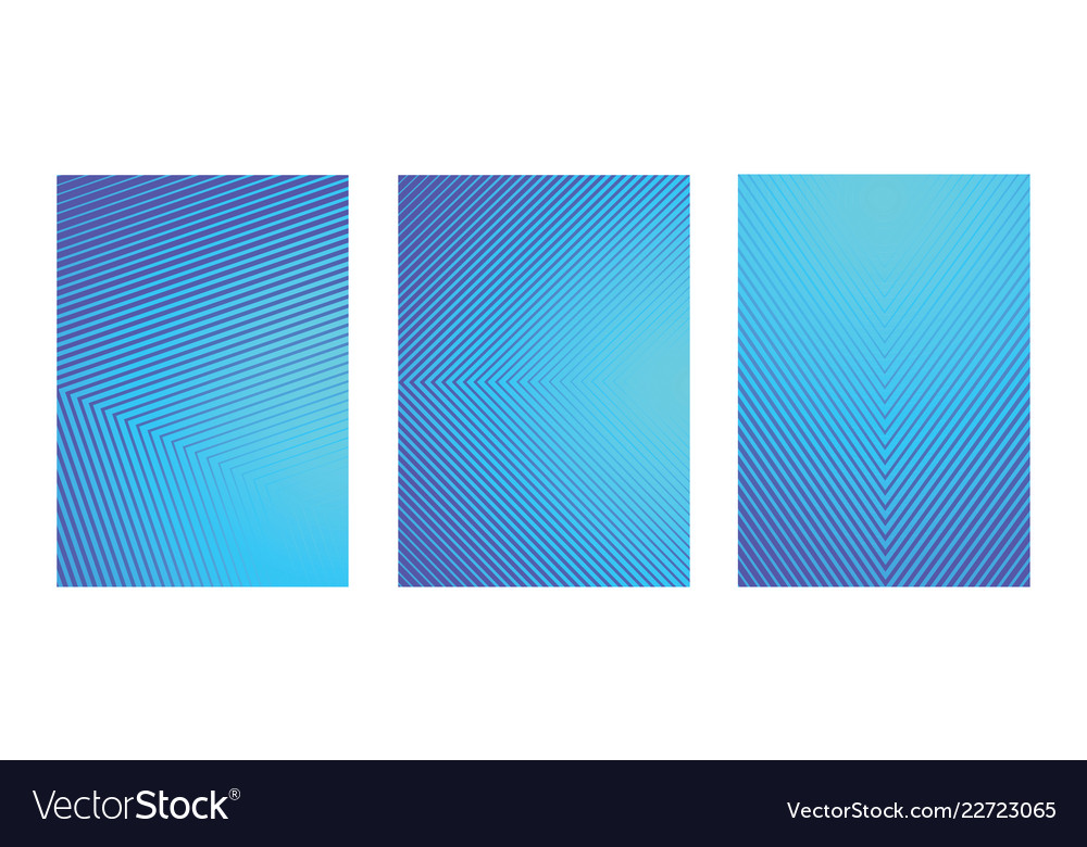 A4 fading blue line pattern background set