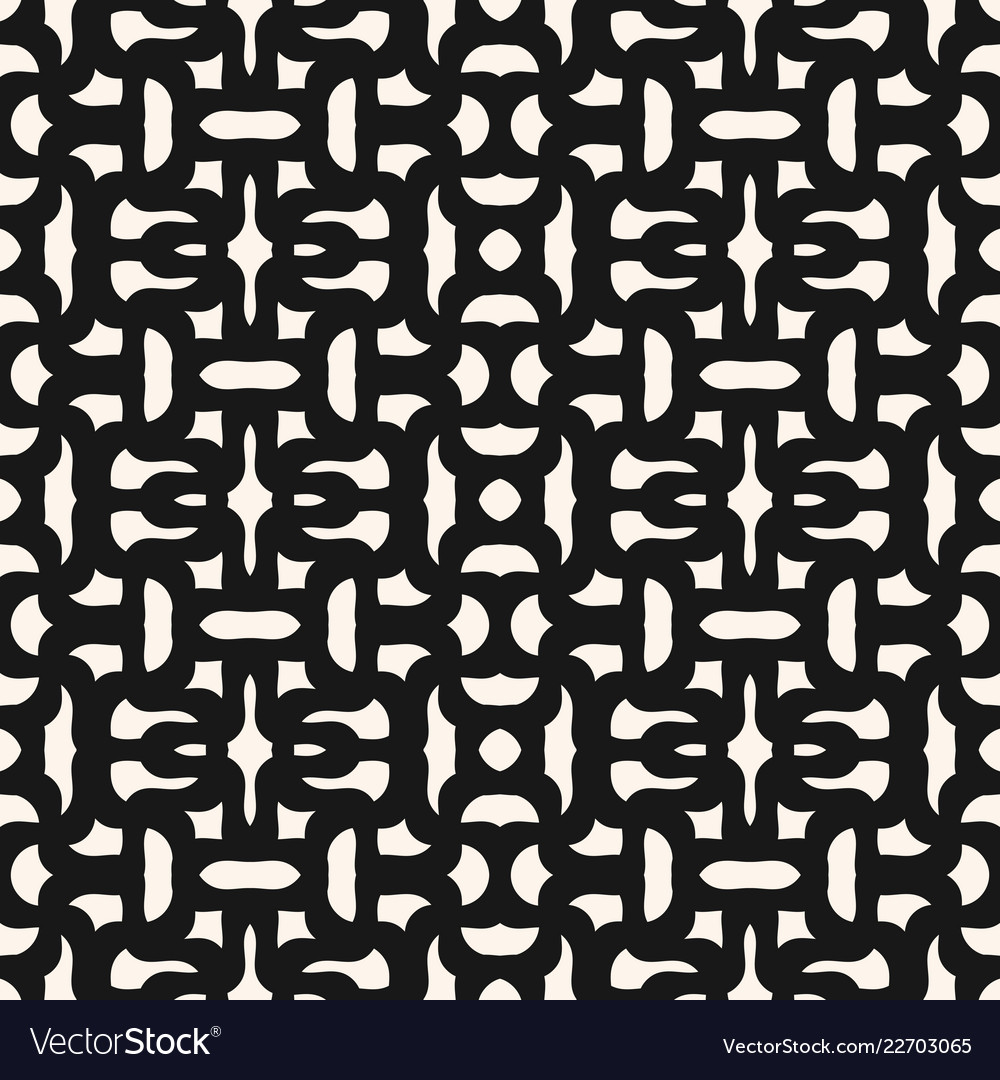 Abstract seamless geometric pattern with curved