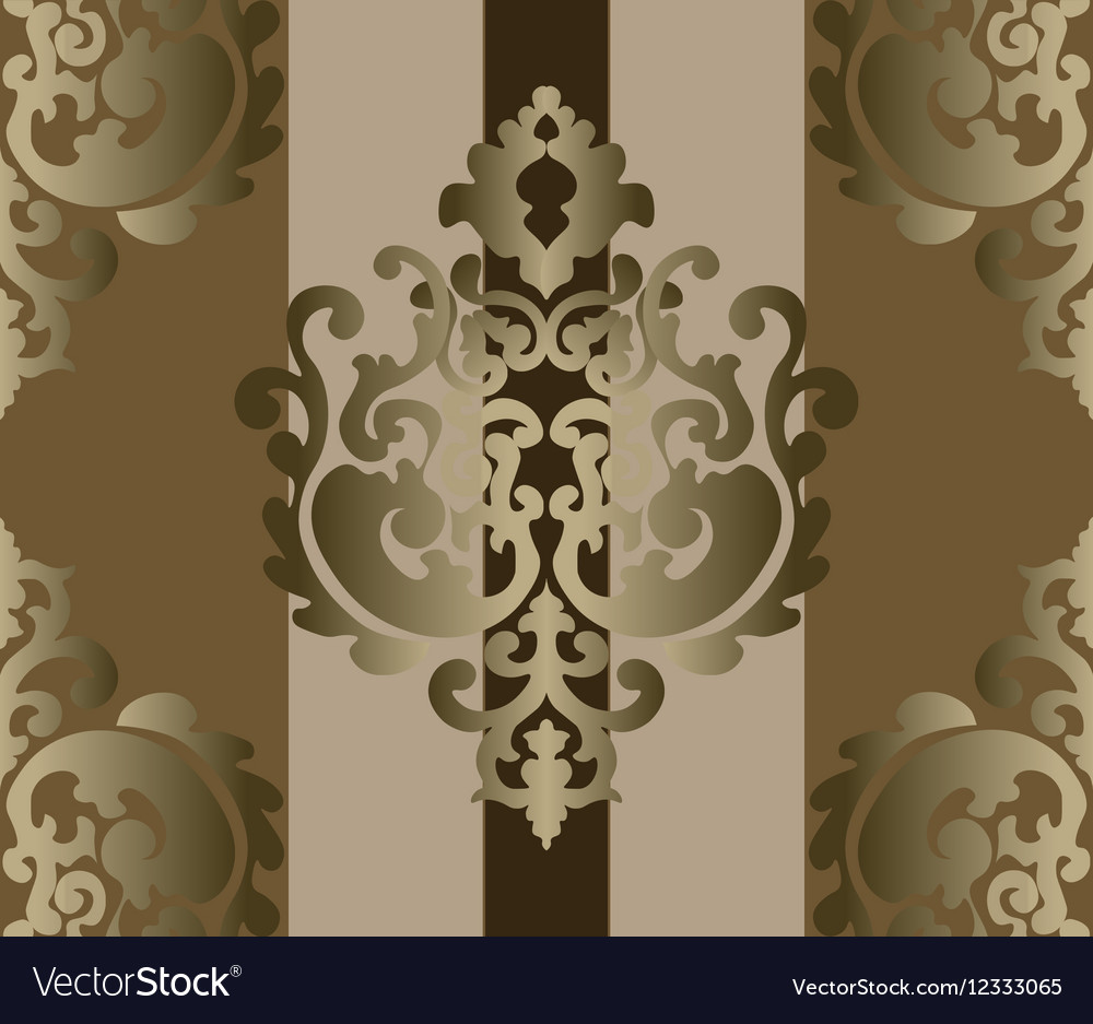 Classic style ornament damask background vector image
