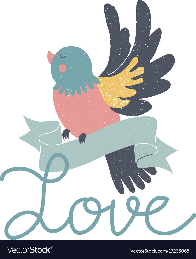 Hand-drawn fairy card vector image
