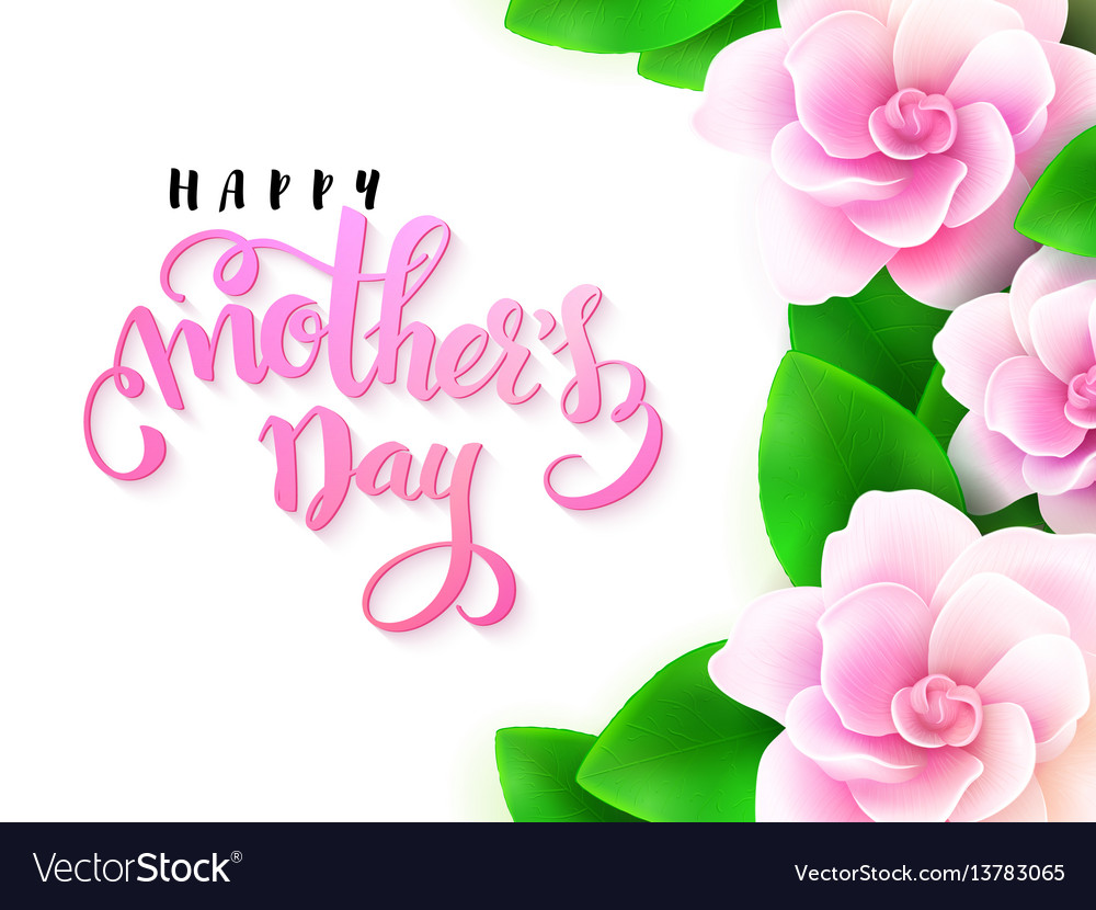 Mothers Day Greetings Card Royalty Free Vector Image