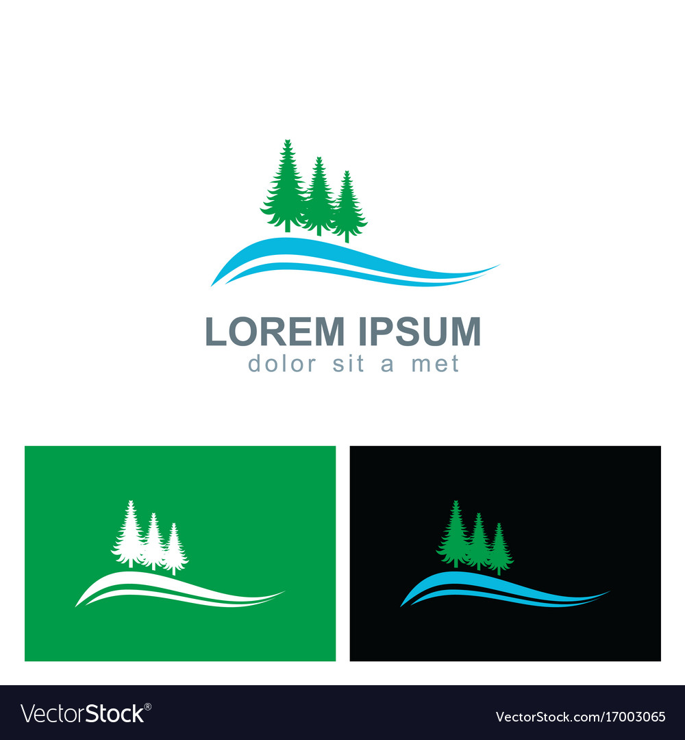 Pine tree landscape logo