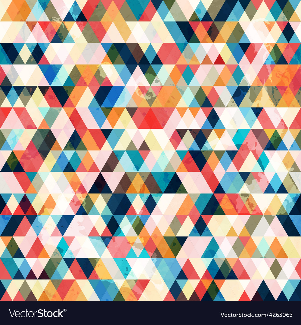 Retro triangle seamless pattern vector image